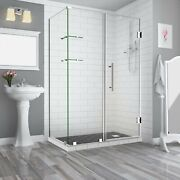 Aston Sen962ez-ch-632536-10 Bromley Gs Frameless Hinged Shower Enclosure With...