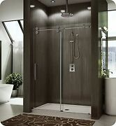 Fleurco Kt57-35-40r-ch Kinetik In-line Sliding Shower Door Right And Fixed Pa...