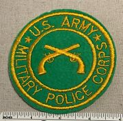 Vintage U.s. Army Military Police Corps Felt Badge Patch Green Crossed Guns 50s