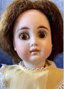 Antique 14 German Bisque Factory Sonneberg Solid Dome So Called Belton Doll 183