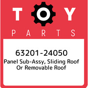 63201-24050 Toyota Panel Sub-assy Sliding Roof Or Removable Roof 6320124050 Ne