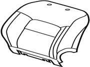 71073-6a670-b1 Toyota Cover Front Seat Back Rhfor Separate Type 710736a670b1