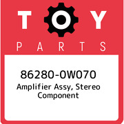 86280-0w070 Toyota Amplifier Assy Stereo Component 862800w070 New Genuine Oem