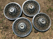 Wirespoke Hubcaps Set Of 4 15 Good Used Wheel Covers 1978 79 80 81 82