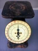 Antiquepelouze Family Scale 24lb Turn Of The Centuryworking Well Vintage