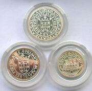 Portugal 1983 Xvii Expo European Set Of 3 Silver Coinsproof