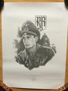 Signed Limited Edition Print Wwii German Major Horst Ramsch Knights Cross