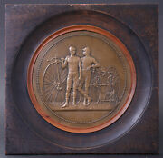Rare Commemorative Plate Grand-bi And Tricycle Victory Runnings By Lavee Aldof