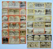 Stereoview Lot Of 38, C1870s Alton Bay, Nh Christian Camp Meeting Grounds