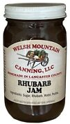 Rhubarb Jam - 100 All Natural Preserves Amish Homemade Sweet And Tangy Spread