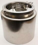 Insulated Condenser Tank | Tri Clamp 12 Inch X 12 W/ Coil And Lid -ss304 2 Pack