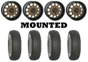 Kit 4 System 3 Xcr350 Tires 28x10-14 On System 3 St-5 Bronze Wheels 550