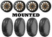 Kit 4 Cst Lobo Rc Tires 32x10-14 On System 3 St-5 Bronze Wheels Can