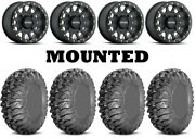 Kit 4 Efx Motoclaw Tires 28x10-14 On Method 401 Beadlock Matte Black Wheels Can