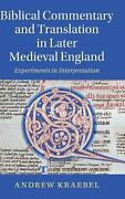 Biblical Commentary And Translation In Later Medieval England Experiments In In