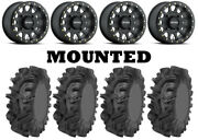 Kit 4 Sedona Mudder Inlaw Tires 32x10-14 On Method 401 Beadlock Matte Black Can