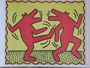 Keith Haring Untitled Poster Dancing Dogs