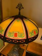Beautiful Antique Signed Handel 6519 Table Lamp With Free Shipping