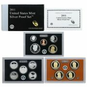 2011-s 90 Silver Proof Set In The Original Us Mint Box And Coa 14 Coins