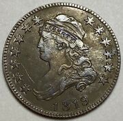 1819 Capped Bust Silver Quarter Small 9 Variety Huge Date Error 25c Over 25c
