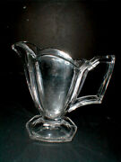 Heisey Clear Glass 345 Colonial Wide Flat Panel Hotel Creamer