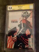 Mighty Thor 4 Cgc 9.8 Signed Stan Lee Jane Foster M. Cho Variant Cover Marvel