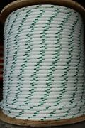 Yale Halyard Sheet Line Double Braid Polyester Sail Rope 1/2 X 100' White/green