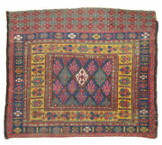 Antique Kurdish Jaff Bagface Rug Size 3and039x3and0396and039and039