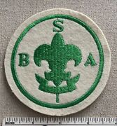Vintage Boy Scouts Of America Badge Patch Green Embroidery On Felt Scoutmaster
