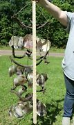 Large Seashell Windchimes Tiered Grapevines 30 Inch Classic Sea Shore 2 - G-37