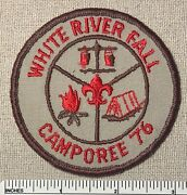 Vintage 1976 White River Fall Boy Scout Camporee Patch Bsa Scouts Camp Re Twill