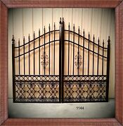 Driveway Gates 10' Ft Wd Inc Post Pkg Steel / Iron Yard Outdoor Home Security