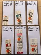 Collectors Lot / Collection Of Nfl Cleveland Browns Tickets Ticket Stubs Fsbo
