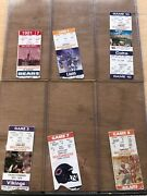 Collectors Lot Collection Of Nfl Tampa Bay Buccaneers Tickets Ticket Stubs Fsbo