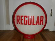 Vintage Regular Gas Station Pump Advertising Globe W 2 Lenses And Capco Body