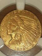 1929 Gold Indian Head Quarter Eagle 2.50 Coin Ngc Ms 62