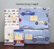 Pottery Barn Kids Little Racer Race Cars Vehicles Brody Crib Quilt Baby Bedding