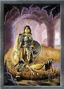 316018 Dragon Worm Has Turned Dragons Knight Clyde Caldwell Wall Print Poster Ca