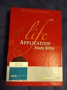 Niv Life Application Study Bible By Zondervan Staff 2005, Leather, Revised