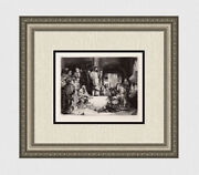 Biblical 1800s Rembrandt B67 Etching Christ Preaching Durand Gallery Framed Coa