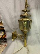 Vintage Brass Coach Lantern / Lamp Sconce Eagle Hand Made Holland Wal Mount