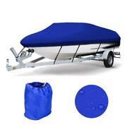 17-19ft 600d Heavy Duty Waterproof Blue Boat Cover Fishing Ski V-hull Washable