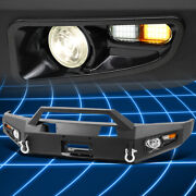 For 14-17 Toyota Tundra Carbon Front Bumper W/d-rings+fog Lights+led Turn Signal