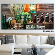Bottle Beer Rack Brewery 3 Piece Hd Art Poster Wall Home Decor Canvas Print