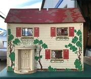 """Child's Vintage 1940s """"keystone"""" Wooden Doll House 2 Story 6 Rooms Pickup Socal"""