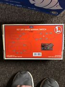 Lionel Trains O-27 Scale Manual Control Left Hand Switch 6-65021
