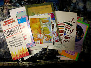 Greeting Card Collection - Lot Of 52 Vintage Cards Birthday Christmas Valentines