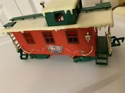 Vintage Caboose By New Bright Ltd Red From Christmas Express G Scale 1986