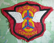 Hand Sewn Patch - Us Army - 8th Helicopter Company - Trans - Vietnam War - 6121