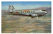 Western Air Lines Dc3 - The Mainliner - Rare Ca1941 Airline Issue Postcard